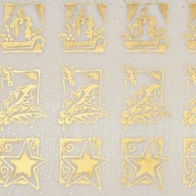 Tissu décoratif Bougies Crème-or Creapop - Hobbyfun