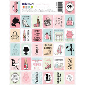 Stickers Timbres Fashionista - Artemio