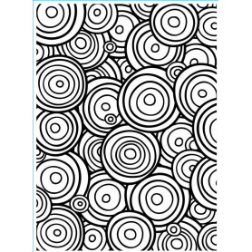 Classeur de gaufrage A6 Multi Cercles – Darice – Embossing folder Multi Circle