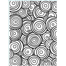 Classeur de gaufrage A6 Multi Cercles – Darice – Embossing folder Multi Circle