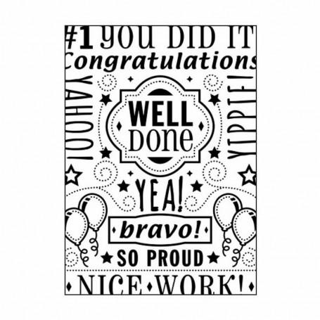 Classeur de gaufrage A6 Félicitations – Darice – Embossing folder Congratulations