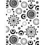 Classeur de gaufrage A6 Cercle Rétro – Darice – Embossing folder Retro Circle