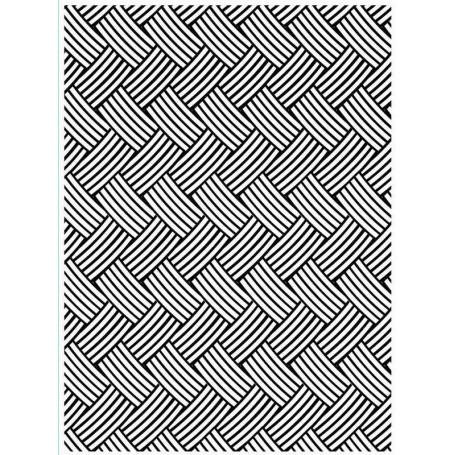Classeur de gaufrage A6 Tressage de panier – Darice – Embossing folder Basket weave