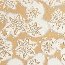 Tissu décoratif Etoiles de neige nougat Creapop - Hobbyfun