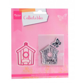 Collectables birdhouse home die & stamp COL1309 - Marianne Design
