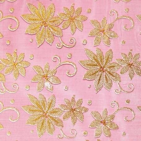 Tissu décoratif Fleur dorée Creapop - Hobbyfun