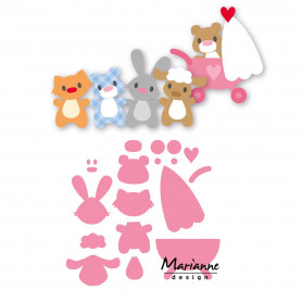 Collectables Eline's baby animals dies COL1422 - Marianne Design