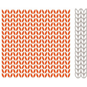 Classeur de gaufrage Extra Tricot - Marianne Design - Design Folder Extra Knitting