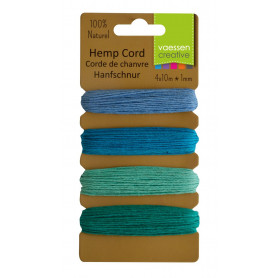 Corde de chanvre Blue Green 4 x 10m – Vaessen Creative