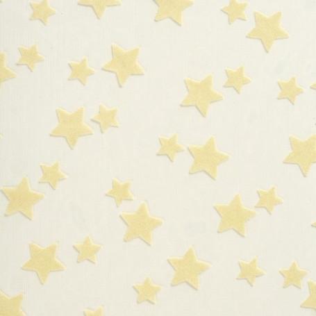 Tissu décoratif Etoiles Crème Creapop - Hobbyfun