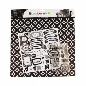 Kit Scrapboking Black & White - Artemio