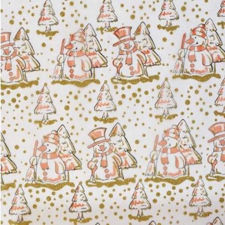 Tissu décoratif Bonhomme de neige Orange Creapop - Hobbyfun