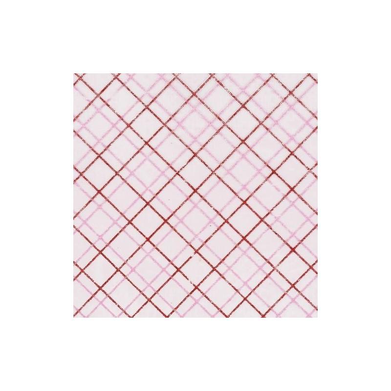 Tissu décoratif Carreau Rose/Rouge Creapop - Hobbyfun