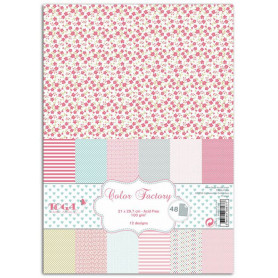 Set de papier A4 Rose vert gris 48f - Color Factory Toga