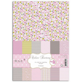 Set de papier A4 Grenadine amande rose 48f - Color Factory Toga