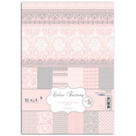 Set de papier A4 Dentelles 48f - Color Factory Toga