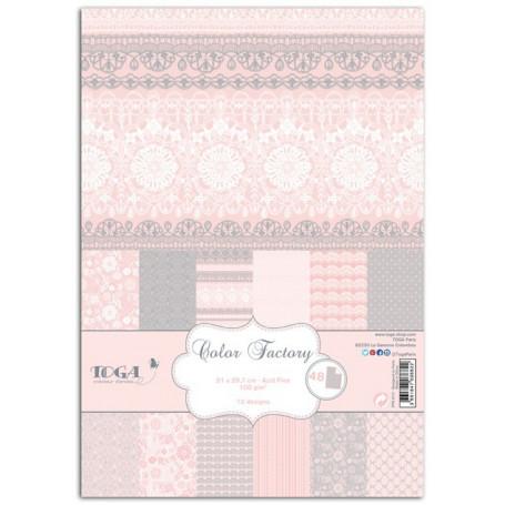 Set de papier A4 Dentelles 48f - Color Factory Toga