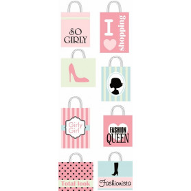 Embellissements 3D Shopping Bags Fashionista - Artémio