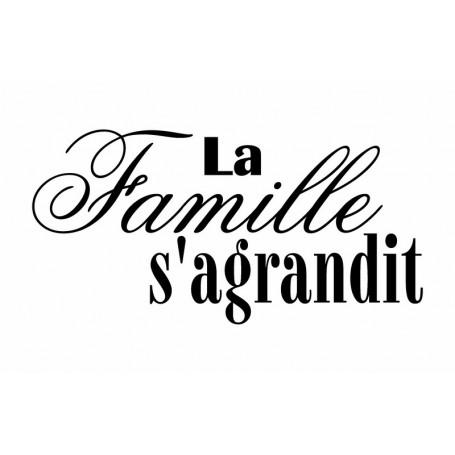Tampon bois La famille s'agrandit – Artemio