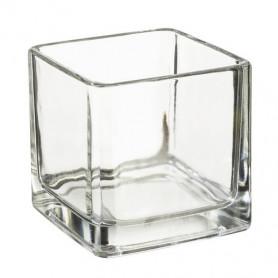 Verre pour bougie à chauffe-plat carré 5x5 cm
