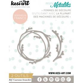 Dies métaliks Couronne branchée - Kesi'art