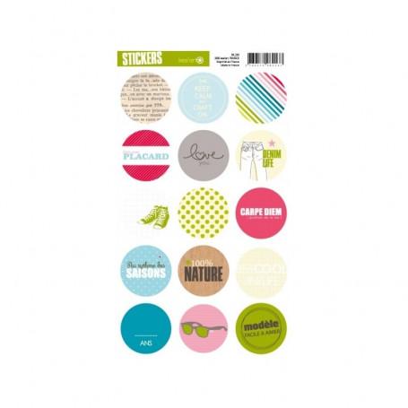 Autocollants ronds Défilé - Kesi'art stickers
