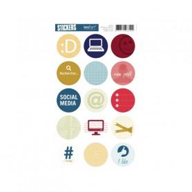 Autocollants ronds Social Media - Kesi'art stickers