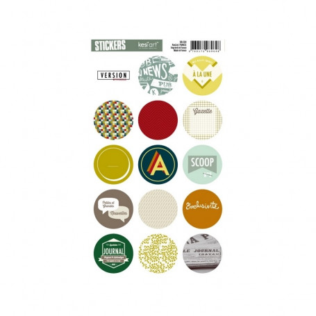 Autocollants ronds Edito - Kesi'art stickers