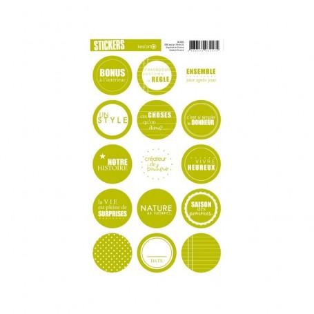 Autocollants ronds Vert - Kesi'art stickers