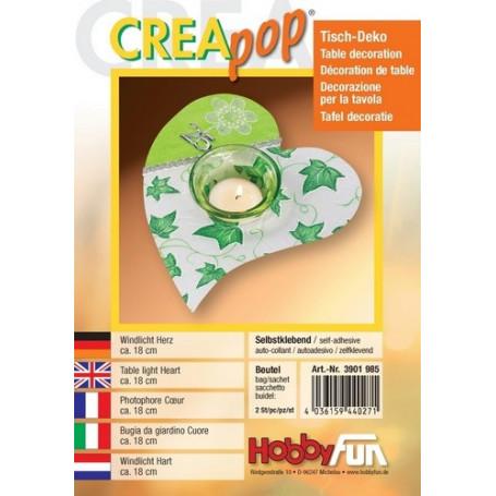 Support Photophore Coeur Creapop à  décorer – Décoration de table - Hobbyfun
