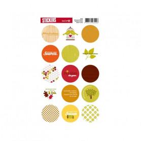 Autocollants ronds Senteurs boisées - Kesi'art stickers