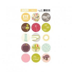 Autocollants ronds Flic flac floc - Kesi'art stickers