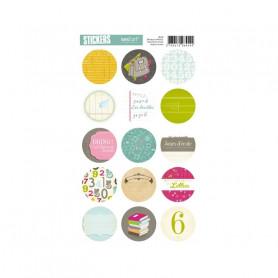 Autocollants ronds Moulin du comte - Kesi'art stickers