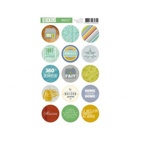 Autocollants ronds Recherche maison - Kesi'art stickers