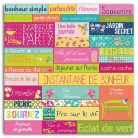 Stickers Mots Un dimanche à la campagne 1 planche - Toga