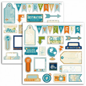 Stickers Globe Trotter 2 planches - Toga