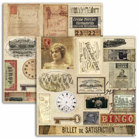 Stickers Vintage 2 planches - Toga