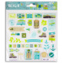 Stickers Epoxy Escapade 39 pc - Toga