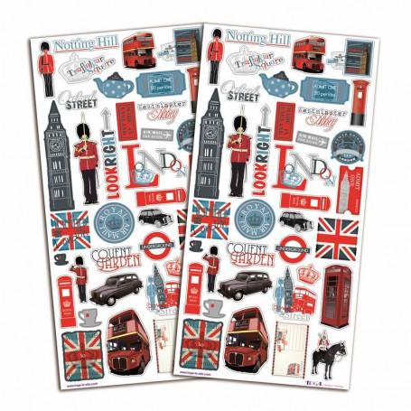 Stickers Destination Londres 2 planches - Toga