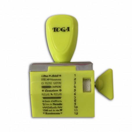 Tampon à molette 12 messages Vacances - Toga