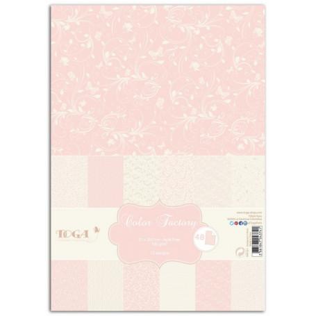 Set de papier A4 Romantique 48f - Color Factory Toga