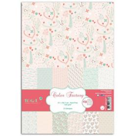 Set de papier A4 Coeurs et feuillages 48f - Color Factory Toga