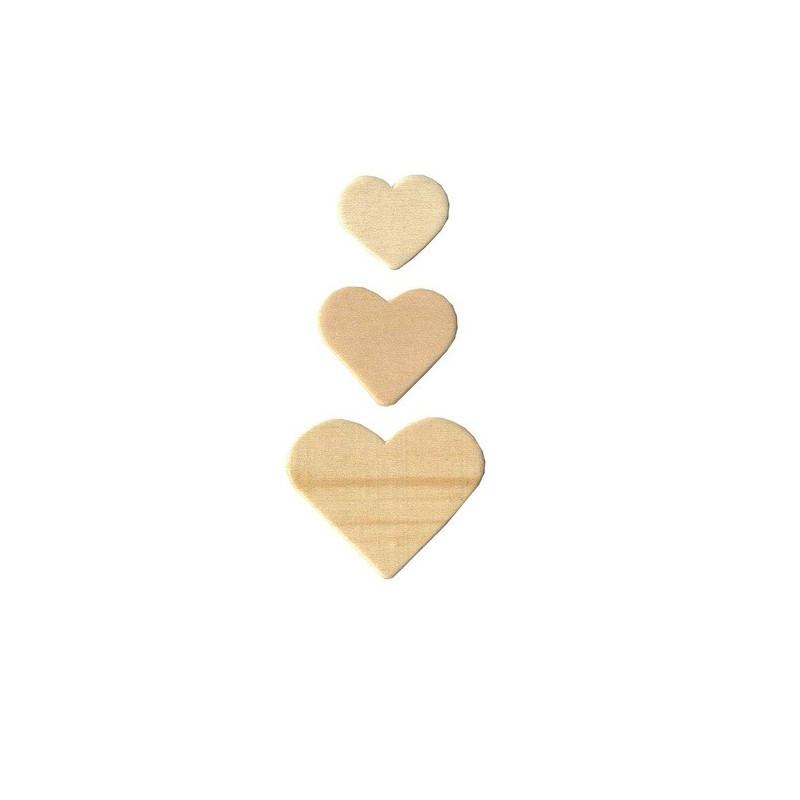 Formes en bois - Coeur - Artemio