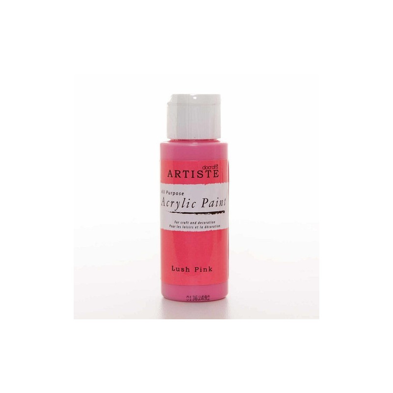Peinture acrylique Lush Pink 59 ml – Docrafts Artiste
