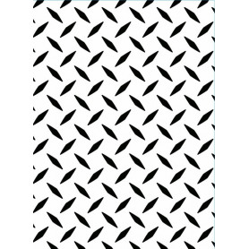 Classeur de gaufrage A6 Diamand – Darice – Embossing folder Diamond plate