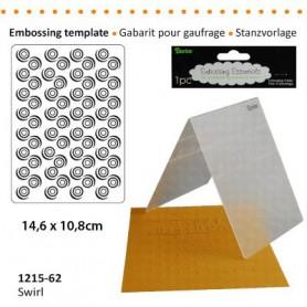 Classeur de gaufrage A6 Swirly pattern – Darice – Embossing folder