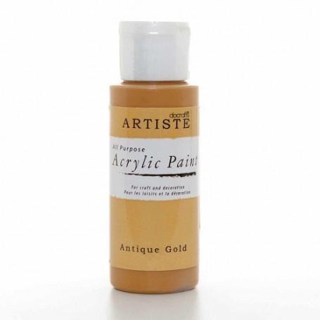 Peinture acrylique Antique Gold 59 ml – Docrafts Artiste