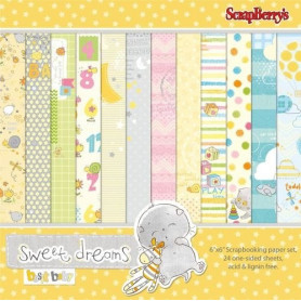 Set de papier 15x15 Sweet Dreams 24f – ScrapBerry's