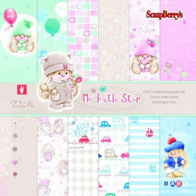 Set de papier 15x15 My Little Star 24f – ScrapBerry's