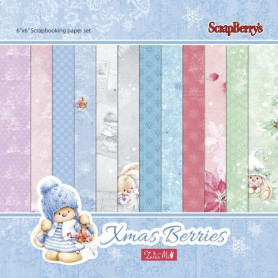 Set de papier 15x15 Xmas Berries 24f – ScrapBerry's